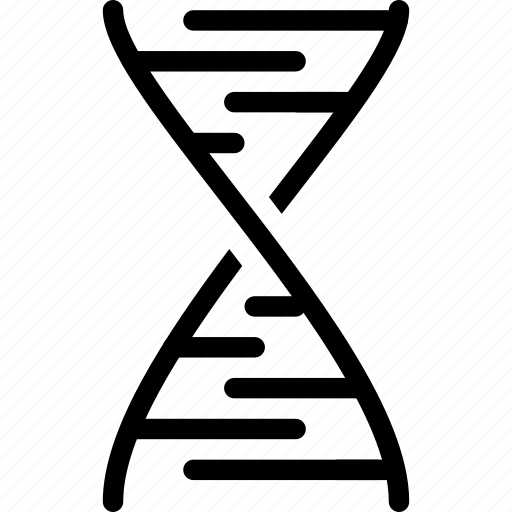chromosome, creative, dna, gene, grid, human, objects, rna, science, shape, strand icon