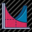 economics, graph, statistics icon