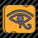 ethnology, eye, pharaoh icon