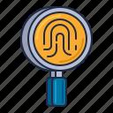fingerprint, forensics, science icon