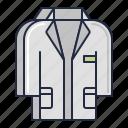 coat, lab, uniform icon