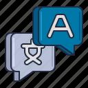 language, linguistics, translation icon