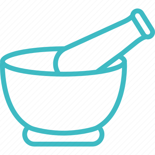 and, bowl, herbel, mortar, pestle, pharmacy icon