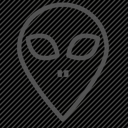 alien, avatar, face, figure icon