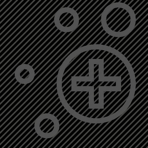 bubble, circle, cross, medical icon
