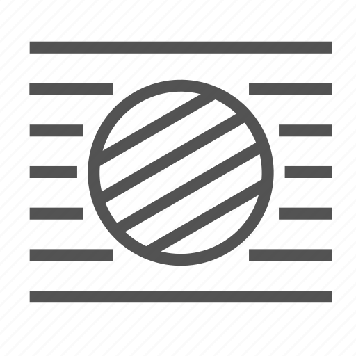 air, circle, fit, line, round, vent icon
