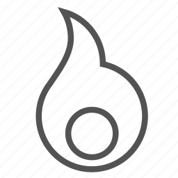circle, core, fire, flame icon