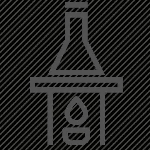 fire, flame, flask, heat, laboratory, lamp, tube icon