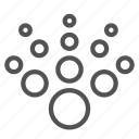 circle, gradient, radiation icon