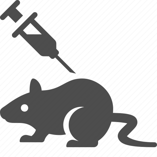 experiment, injection, laboratory, mouse, rat, science, syringe icon