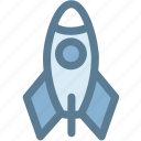 explosion, rocket, rocketship, space, spaceship, startup icon