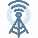 communication tower, signal tower, wifi antenna, wifi tower, wireless icon
