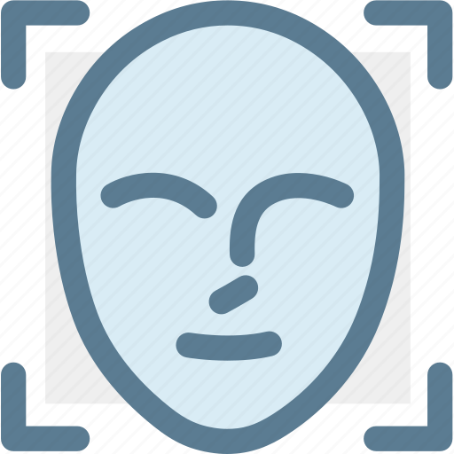 authentication, calculate, face id, face id scan, face scan, scanning, technology icon