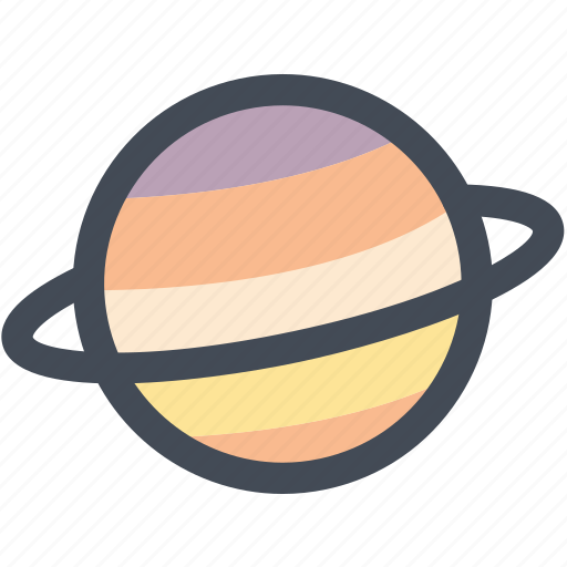 astronomy, planet, saturn, science, space, universe icon