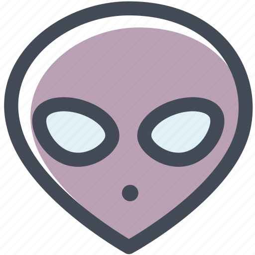 alien, extraterrestrial, mask, space, ufo icon