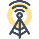 communication tower, network, signal tower, wifi antenna, wifi tower, wireless icon