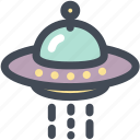 alien, ship, space, space craft, ufo icon