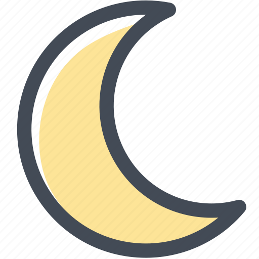 moon, night, planet, space, time icon
