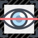 article, biometric, eye scan, retinal scan, technology icon