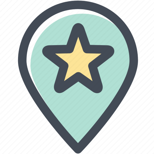 favorite location, journey, locate, map pin, target, target location icon