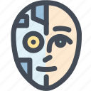 humanoid, machine, robot, science, technology icon
