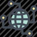 business, communication, digital, digital world, network, technology, world icon