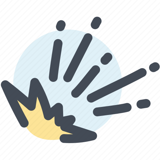 blast, bomb, danger, explosion, shock, sudden death icon