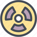 atomic, caution, nuclear, radiation, toxic, warning icon
