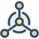 atom, molecule, network, science, structure icon