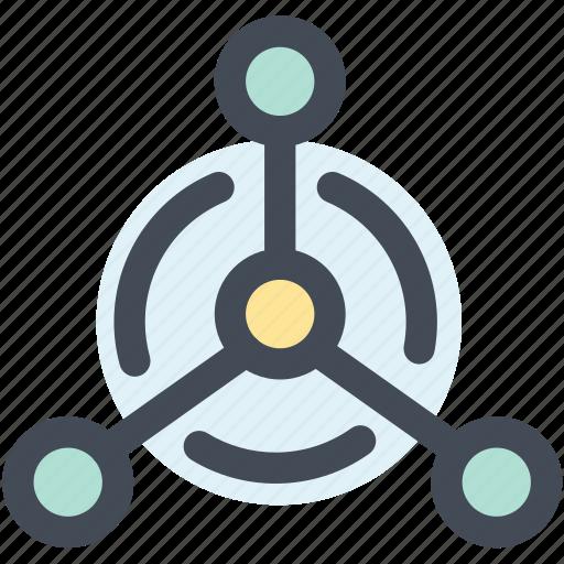 atom, molecule, network, science, structure icon