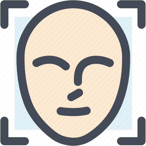 authentication, calculate, face id, face id scan, face scan, password, scanning icon