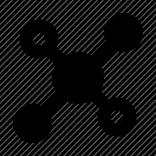 Atom, bond, electron, molecular, science icon - Download on Iconfinder
