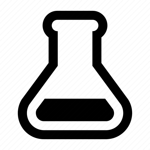chem, flask, science, test icon
