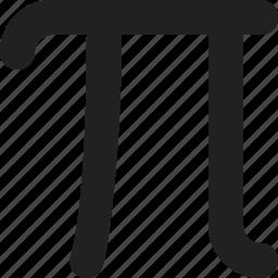 calculator, education, greek, math, mathematics, pi, school icon