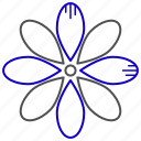 flower, growth, nature, science icon