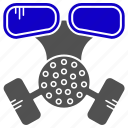 chemical, gazmask, mask, science icon