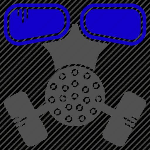 chemical, gazmask, mask, science icon
