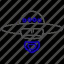 alien, science, ship, spaceship icon