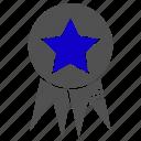 award, badge, grade, science, sticker icon