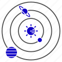 astronomy, global, science, solar, systam icon