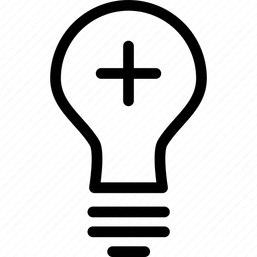 add, bulb, energy, idea, lamp, light, plus icon
