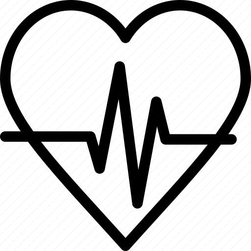 ecg, heart, heartbeat, pulse icon