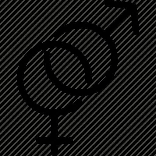 female, gender, male, men, sex, women icon