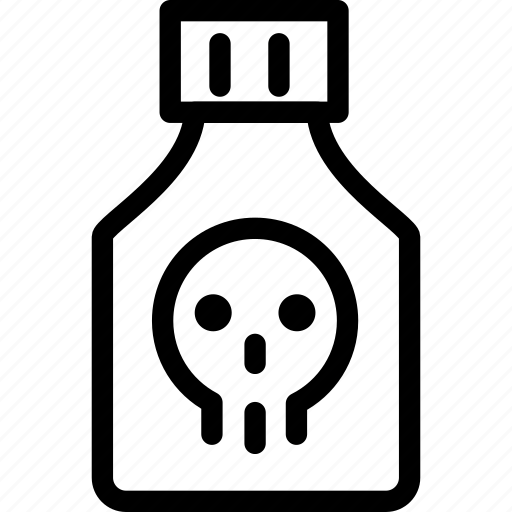 attention, danger, death, poison, prison, skull, warning icon