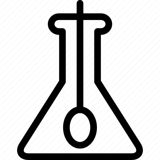 biotechnology, chemical, chemistry, creative, flask, grid icon