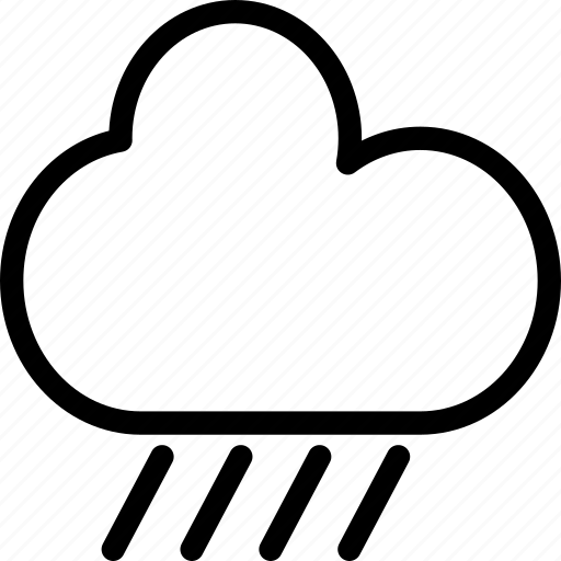 cloud, cloudy, forecast, rain, raining, weather icon