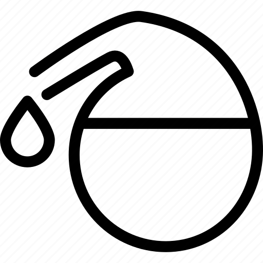 drop, jar, laboratory, science, test icon