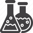 chemical, flasks, laboratory, test icon