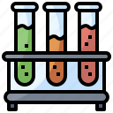 chemical, chemistry, education, science, test, tube icon
