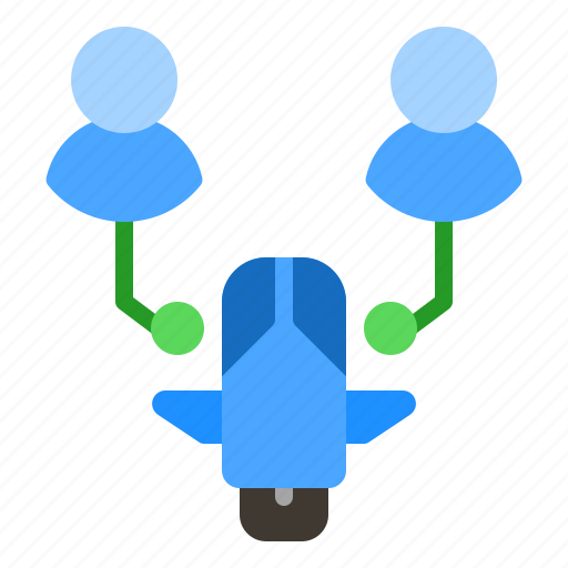 scooter, sharing, technology, transportation, user icon